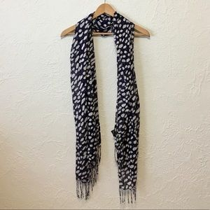 INC Blue and White Scarf